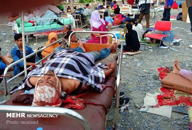 شمار کشته های زمین لرزه اندونزی از 1400 نفر گذشت