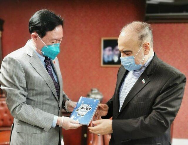 استقبال سفیر چین در تهران از شرکت تیم های ایران در المپیک زمستانی پکن