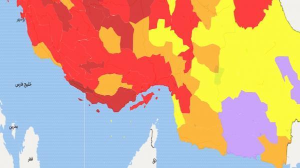 شهر های بستک و بشاگرد هم نارنجی شدند، بندرعباس و 5 شهر دیگر همچنان قرمز هستند